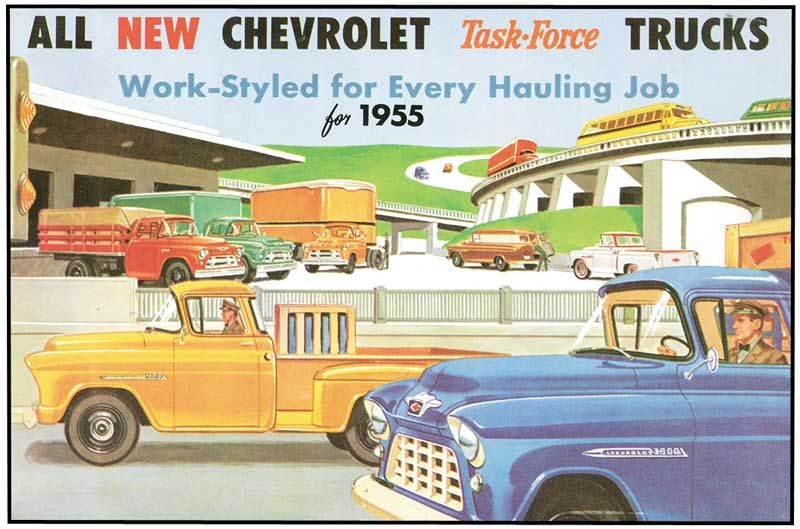 1955 All Makes All Models Parts Tsb55a 1955 Truck Sales Brochure 2nd Series Classic Industries Trucks Chevy Chevy Trucks