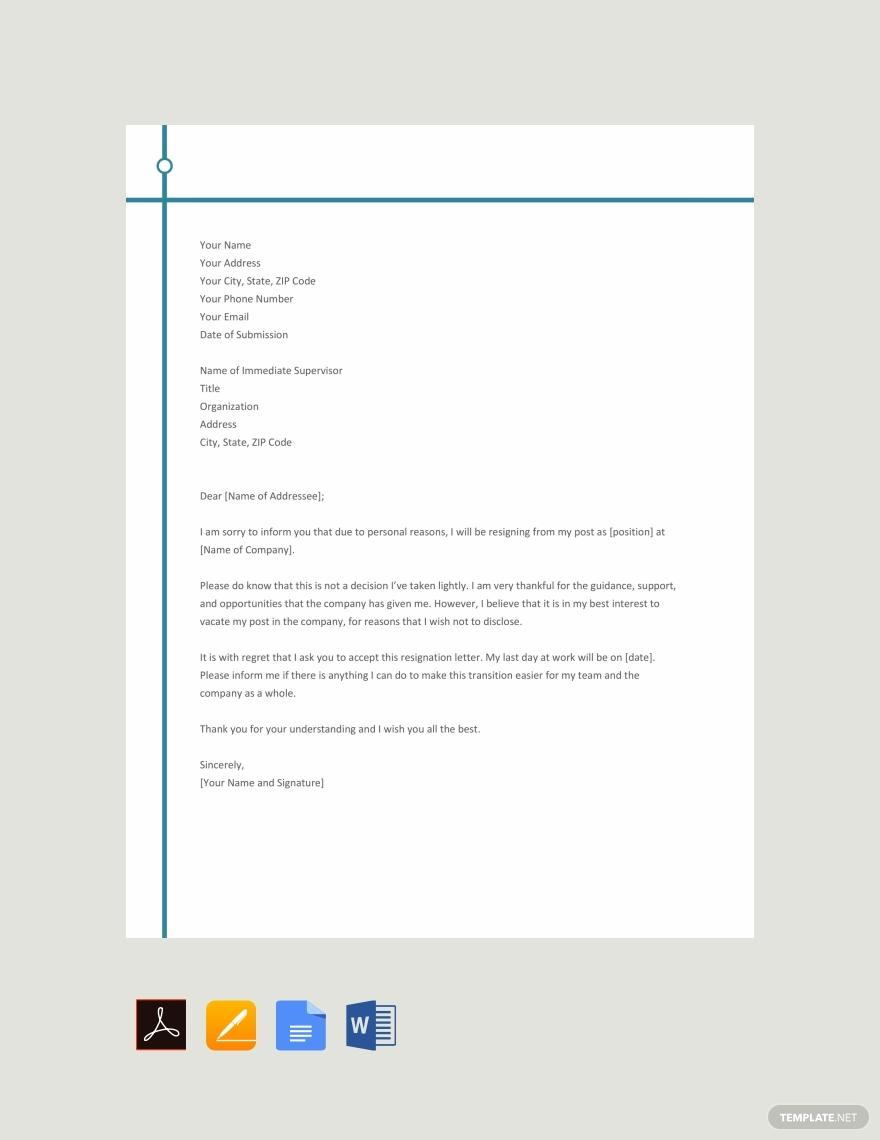 Resume Genius Sample Resignation Letter