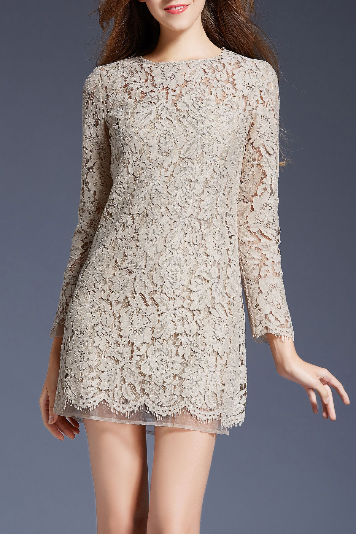 Long sleeve lace dress lace minis and sleeve