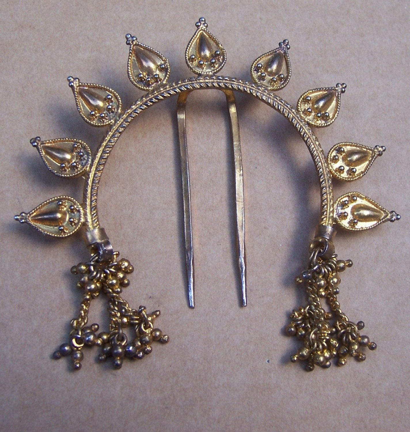 vintage indian hair accessory hair comb hair by