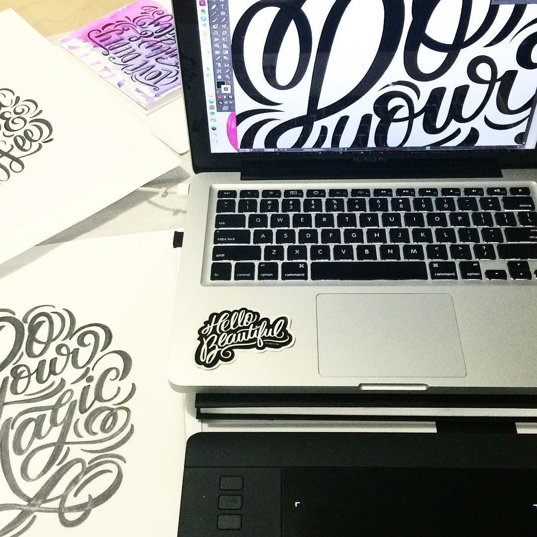 Never stop creating! ✍✨ #Lettering #handlettering #goodtype #letteringdaily #letteringbymaia #handtype #hustle #wacom