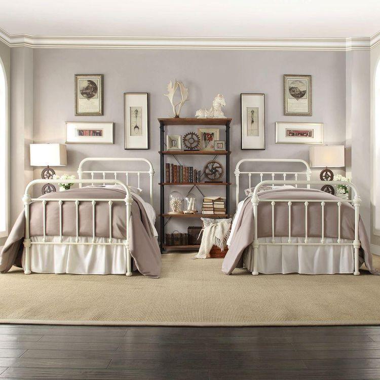 Homesullivan Calabria White Twin Bed Frame 40e411bt 1wbed Bed