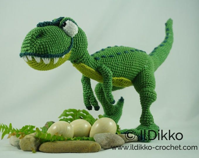 PDF Crochet pattern BABY BRONTOSAURUS (English only) #crochetdinosaurpatterns