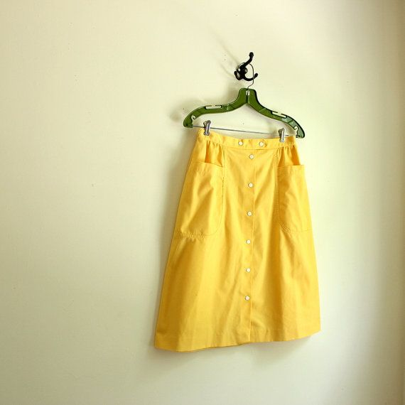 1980s skirts and hairstyles 1980s skirt a line skirt yellow skirt by allengrovevintage
