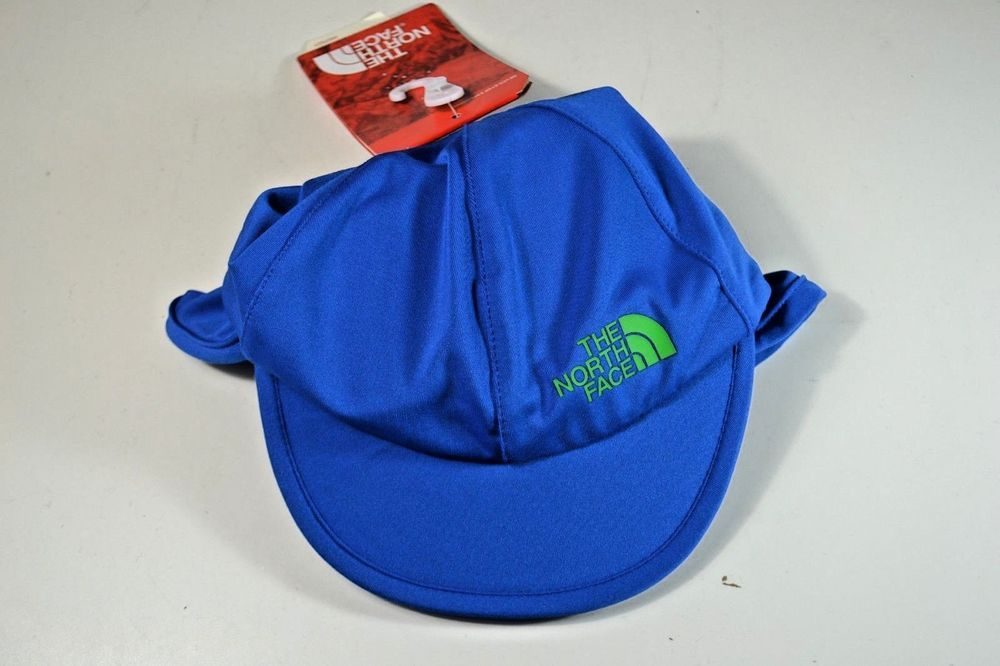 8d6dc6556 NWT THE NORTH FACE BOYS KIDS TURKISH SEA BLUE BABY SUN BUSTER HAT OS ...
