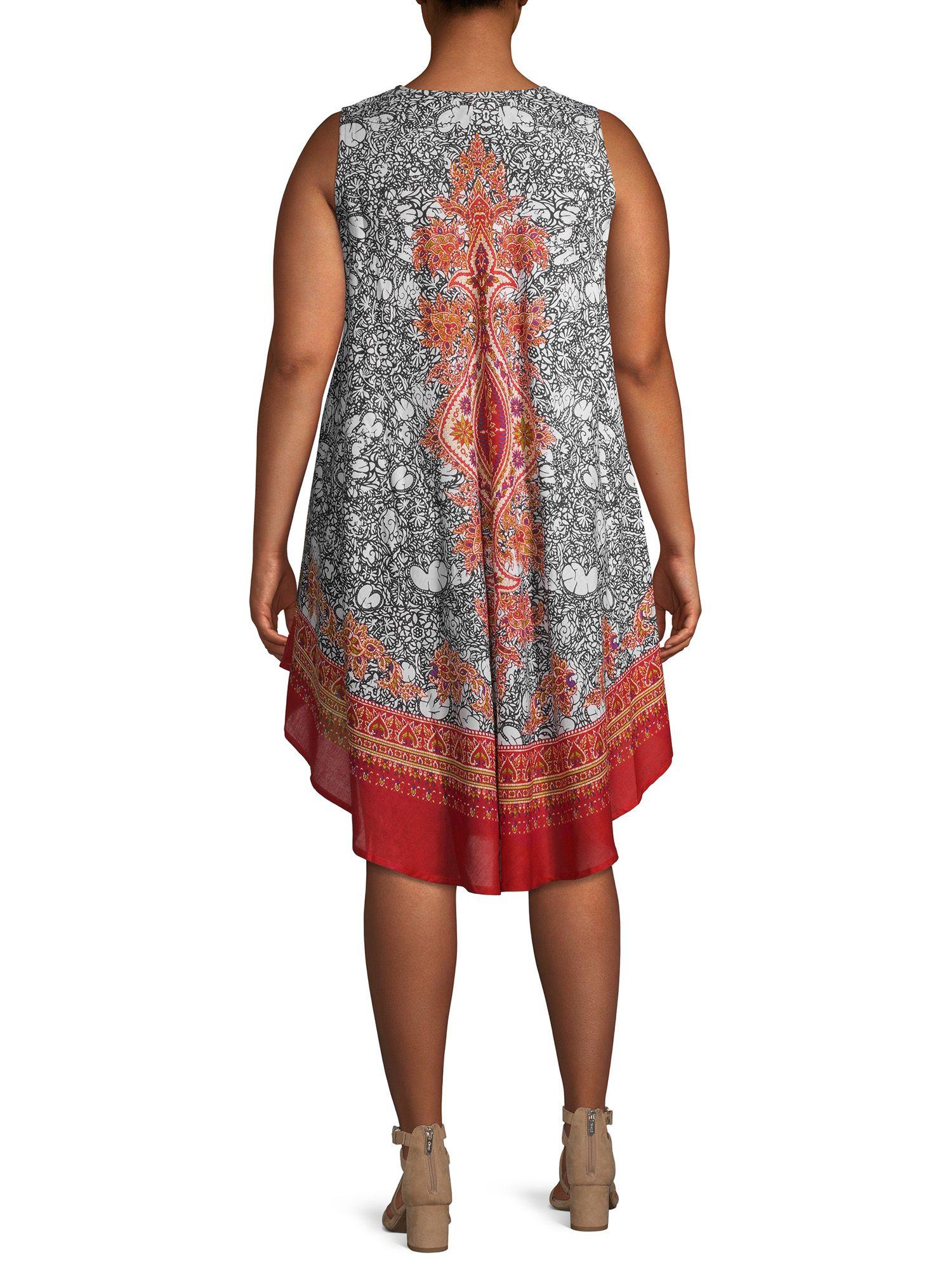 Studio West Studio West Women S Plus Size Medallion Printed Umbrella Dress Walmart Com Umbrella Dress Dresses Print Umbrella [ 2000 x 1500 Pixel ]