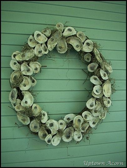 Oyster Shell and Spanish Moss wreath