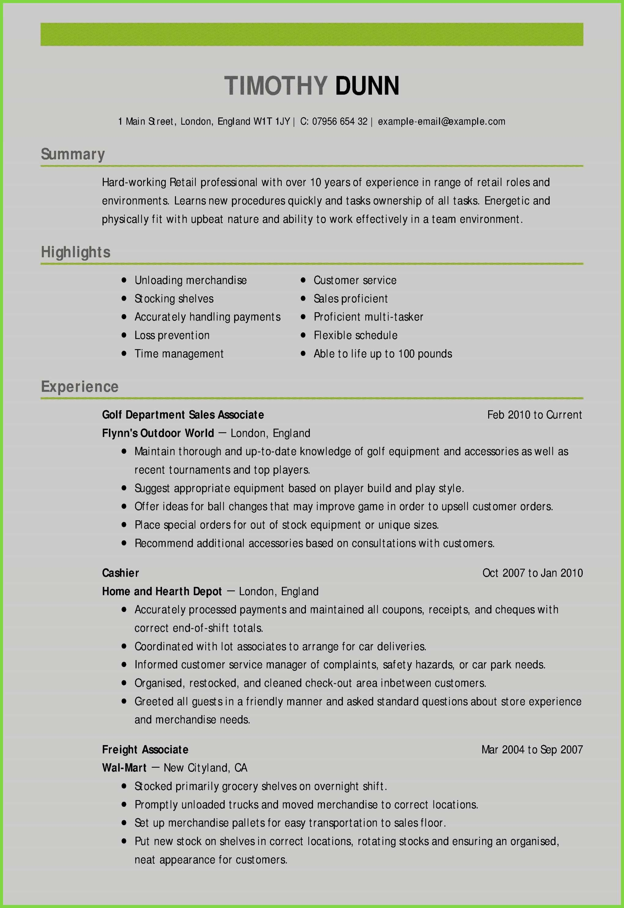 79 Best Of Gallery Of Resume Skills and Abilities Retail
