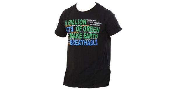 Urban Yoga Article Print Black T Shirt Mens Tees Mens Tshirts Mens Tops
