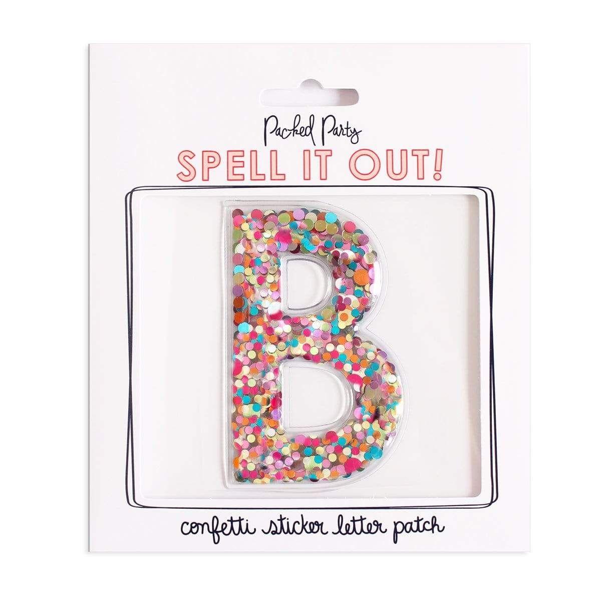Stick to it confetti letter confetti party personalized