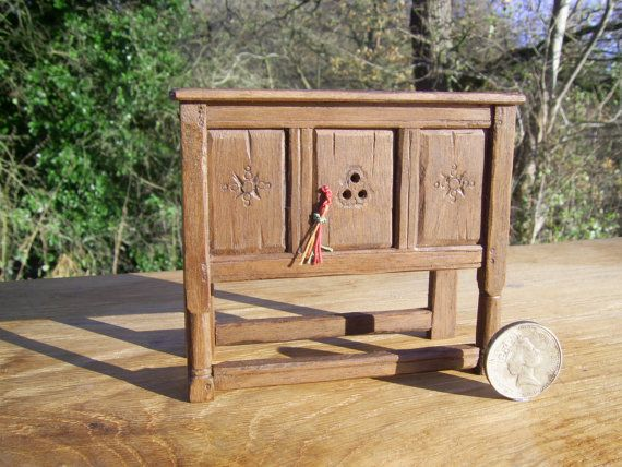 1 12th Scale Miniature Tudor Livery Court Cupboard Or