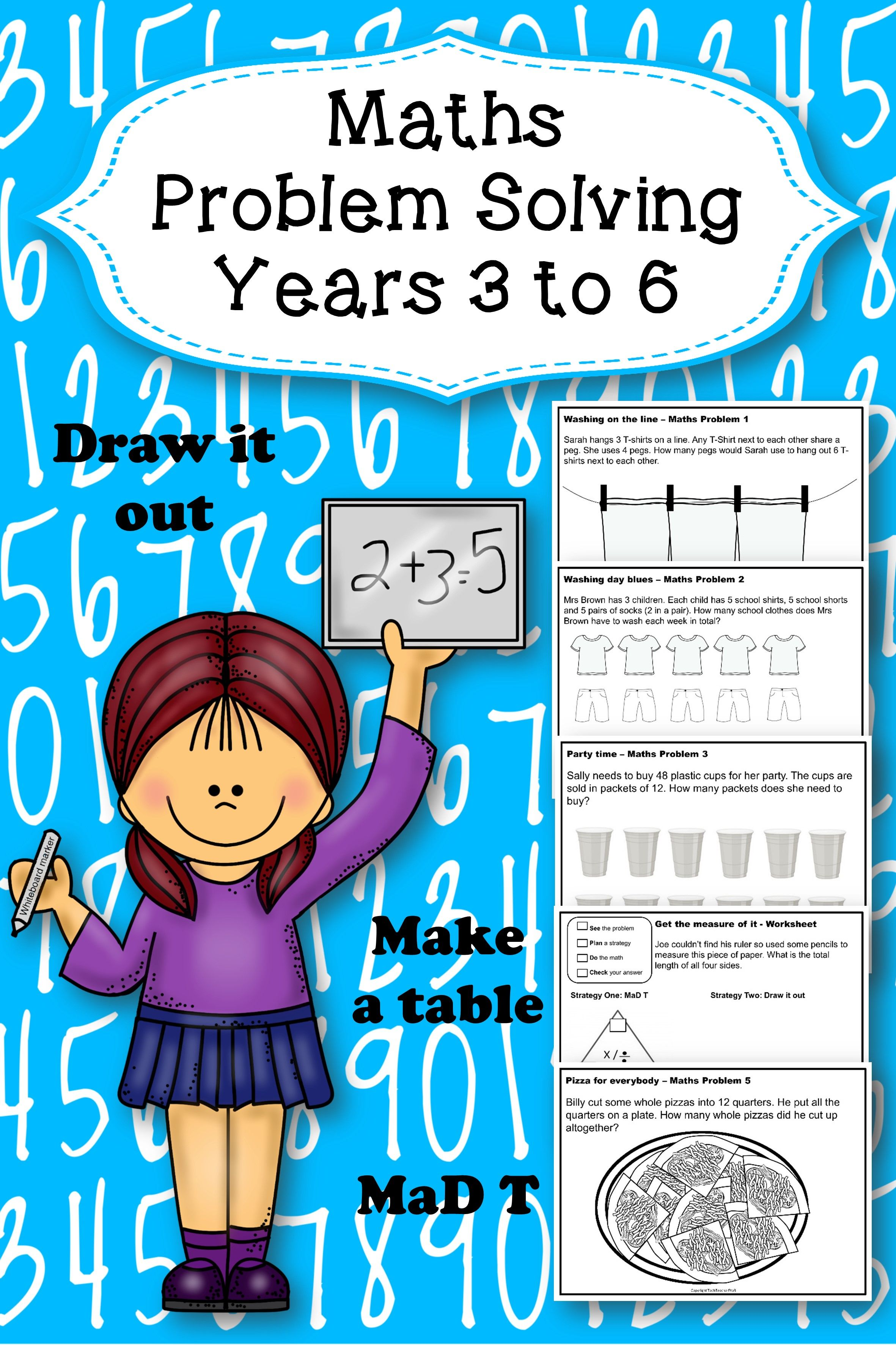 Math Problem Solving Activities | Math problem solving, Math ...