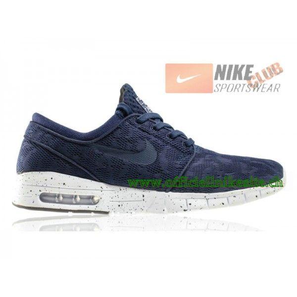 75568a30477 Nike SB Stefan Janoski Max - Chaussure Nike Pas Cher Pour Homme Midnight  Navy Blanc 631303-441