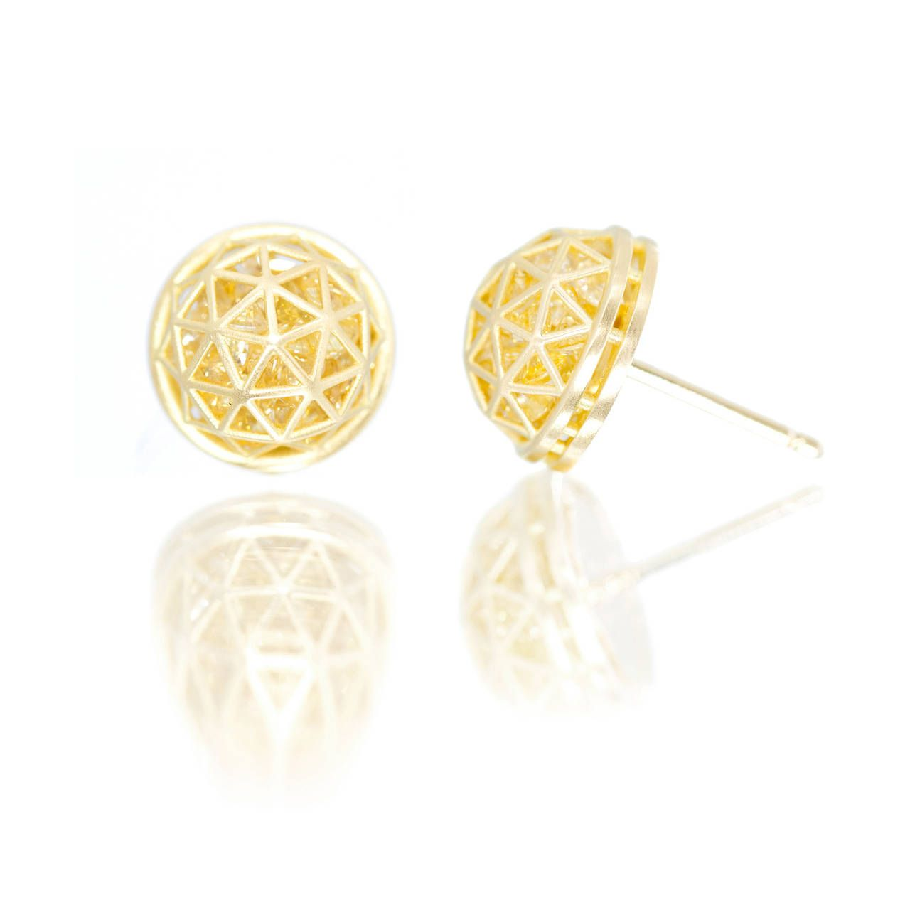 chanel sapphire yellow products diamond stud jewelry enlarged and earrings