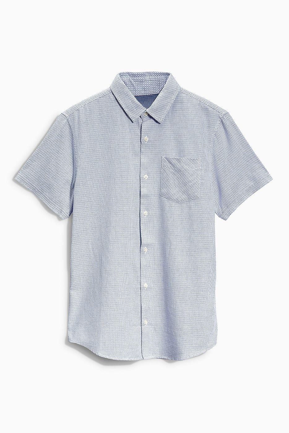 Strukturiertes Hemd  100 % Baumwolle.  ...