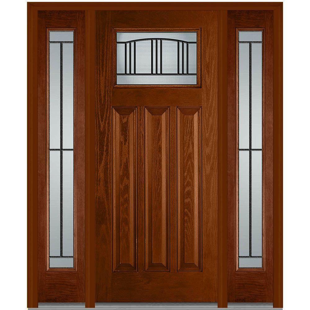 Image Result For Black Craftsman Front Door With Sidelights Craftsman Exterior Door Black Exterior Doors Exterior Doors With Glass