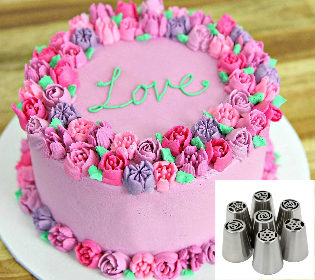 Russian Piping Nozzles Buttercream Cake