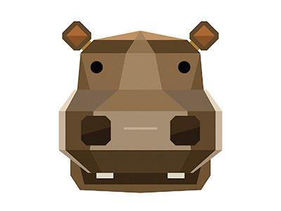 Dribbble-hippo