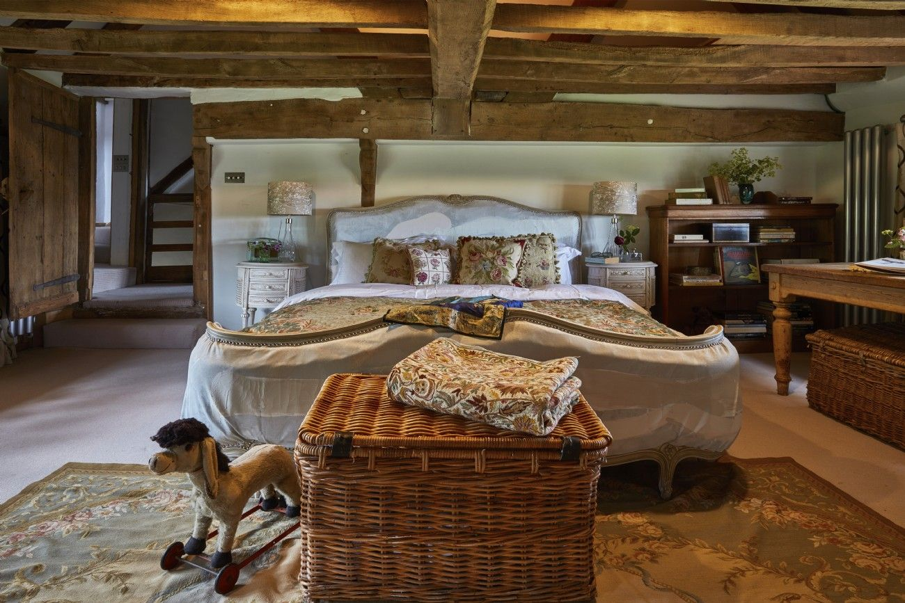 Lovely Old English Country Cottage Bedroom.