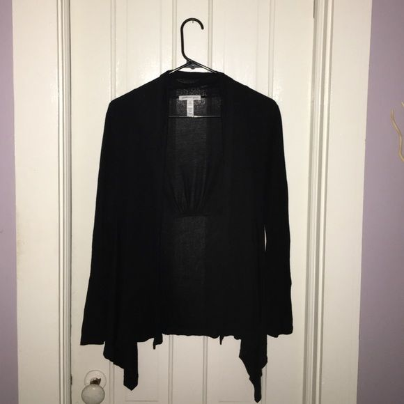 Black sweater Light weight/thin black sweater to wear either casually or in a professional setting, wear over a nice tank top or work shirt. Ambiance Apparel Sweaters Shrugs & Ponchos