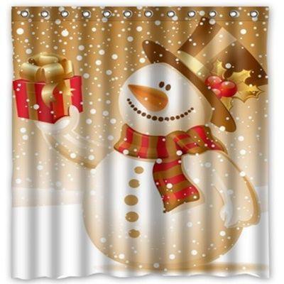 snowman christmas holiday shower curtain | Bathroom Decor Shower ...