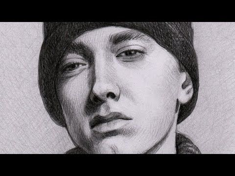 how to draw eminem on paper