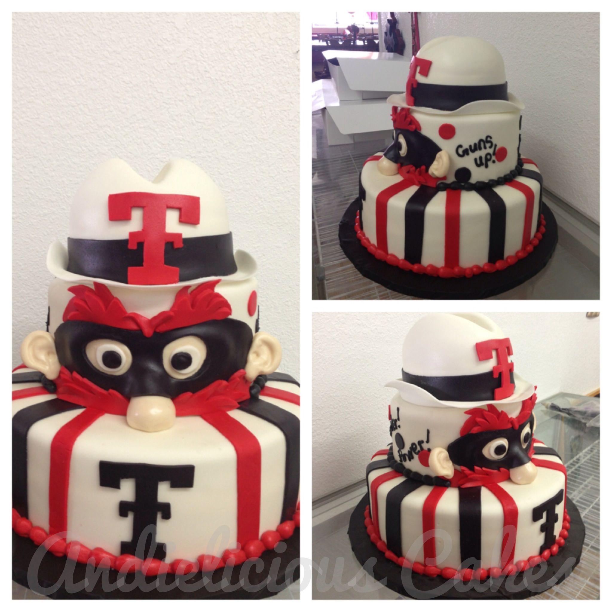 Texas Tech Raider Red Face Cake