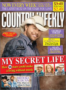 Toby Keith Photo: Country Weekly Toby Keith covers