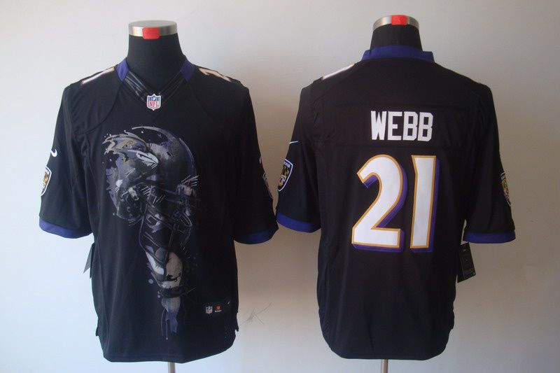#21 Lardarius Webb black Nike Baltimore Ravens Mens Helmet Tri-Blend Limited NFL Jersey  ID:960110001$23
