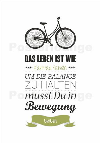 bernhard beierg lein das leben ist wie fahrrad fahren wandgestaltung mit spr chen. Black Bedroom Furniture Sets. Home Design Ideas
