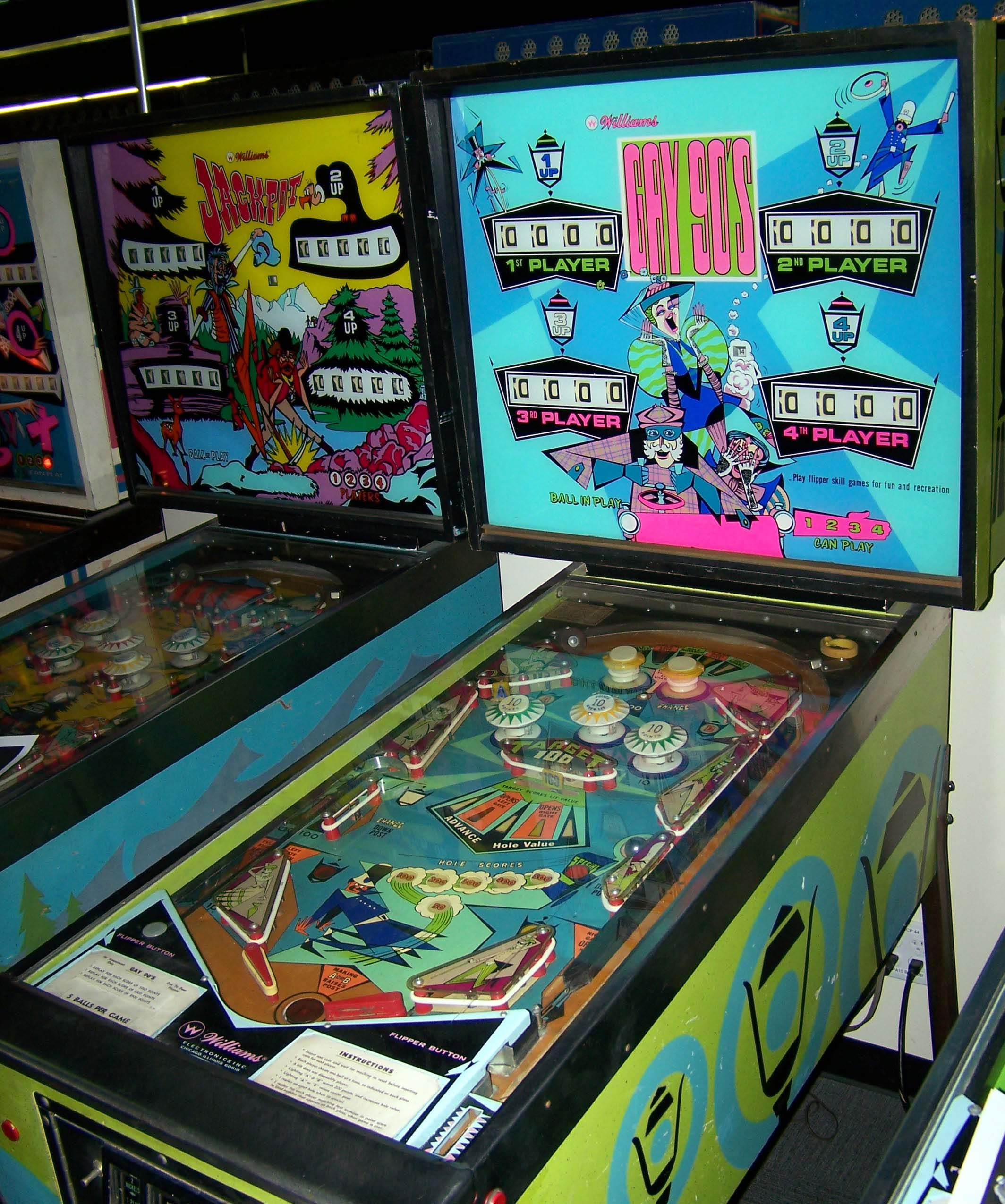 """1970 Gay 90'S """"Williams """" Pinball Machine"""