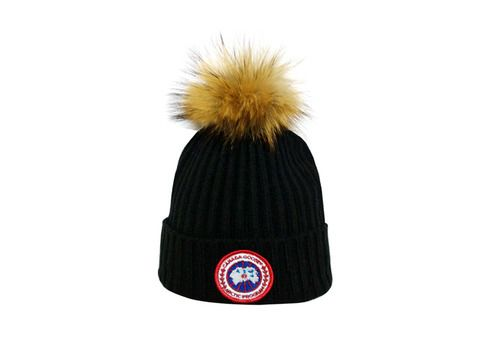 Canada Goose Winter Outdoor Sports Warm Knit Beanie Cap Pom Pom Knit Beanie Beanie Warm Knits