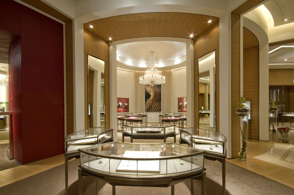cartier interior at dubai mall by tao designs. Black Bedroom Furniture Sets. Home Design Ideas