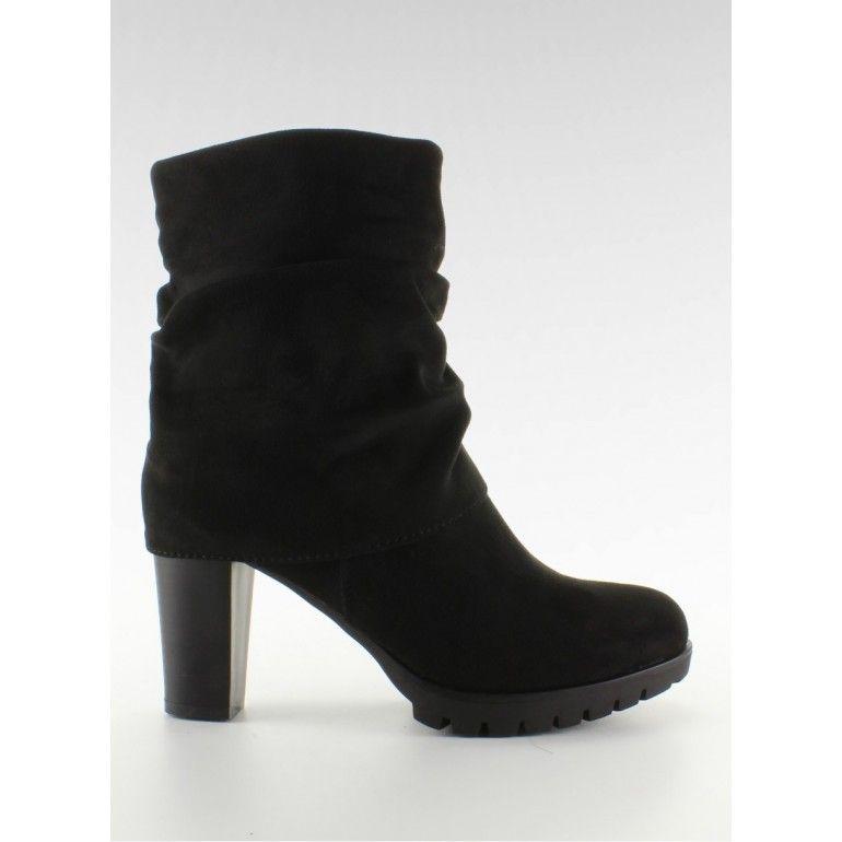Stylowe Botki Z Golfem Jk41 Black Tanie Buty Sklep Immoda Ankle Boot Shoes Boots