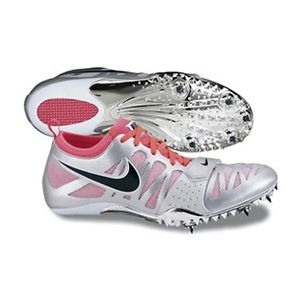 Running Spikes (Silver)   Nike