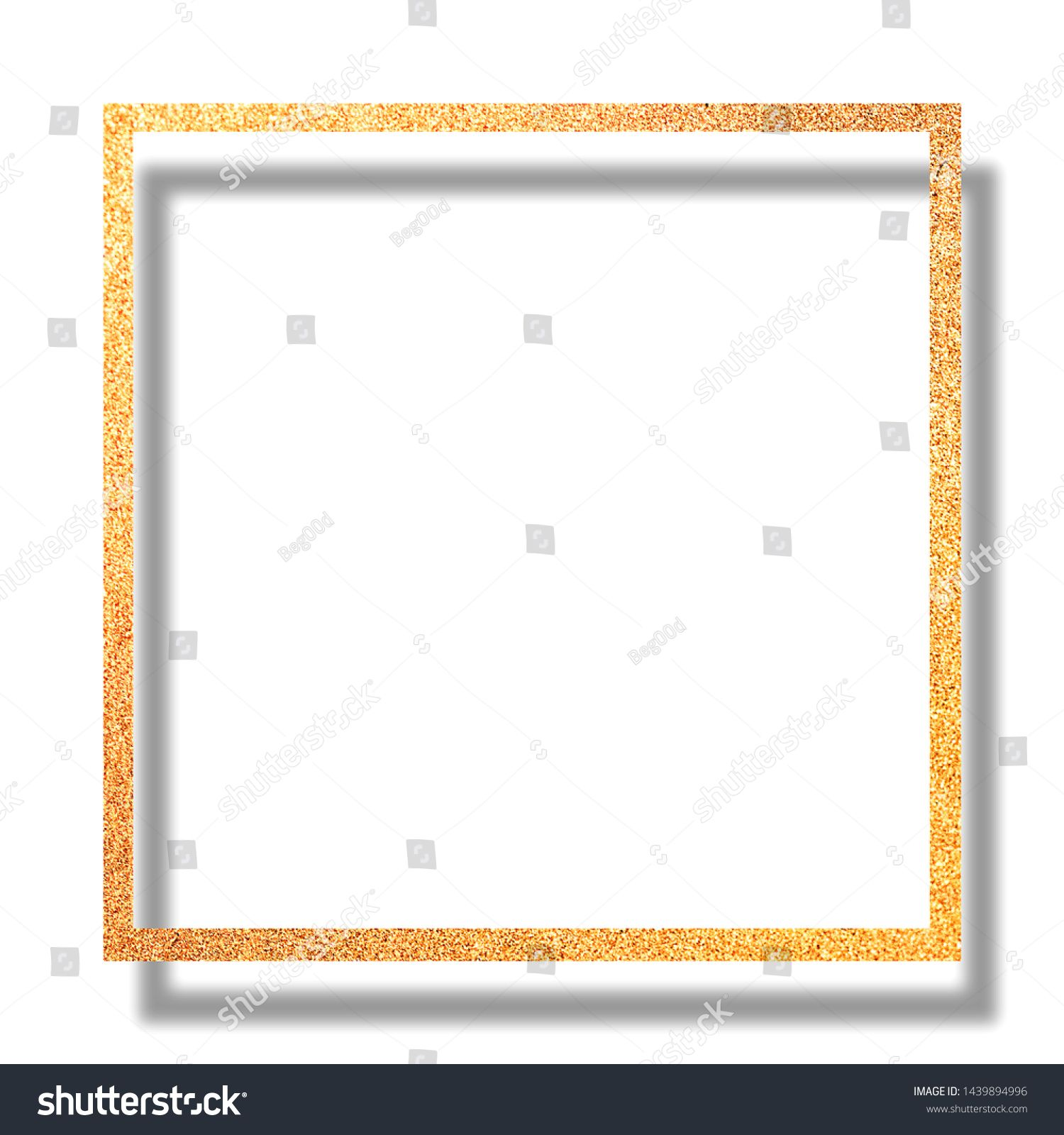 Gold Glitter Frame For Card Or Photo Template Christmas And New Year And Holiday Background Ad Sponsored Card Photo Frame Glitter Frame Frame Card Frame