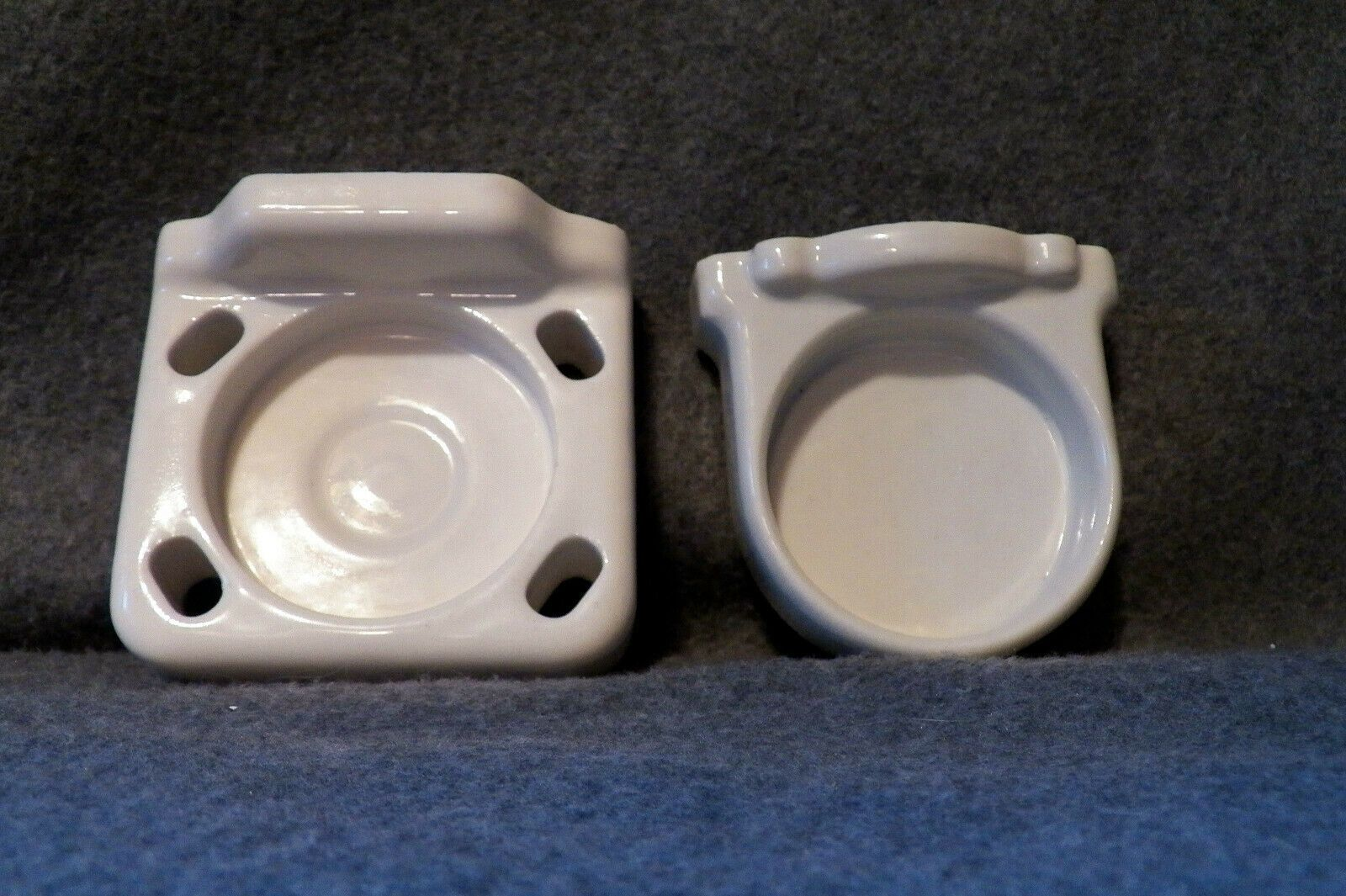 Photo of Vintage Ceramic 4 Toothbrush Holder Wall Mount & Cup Holder Fixture 2 (Pieces) $…