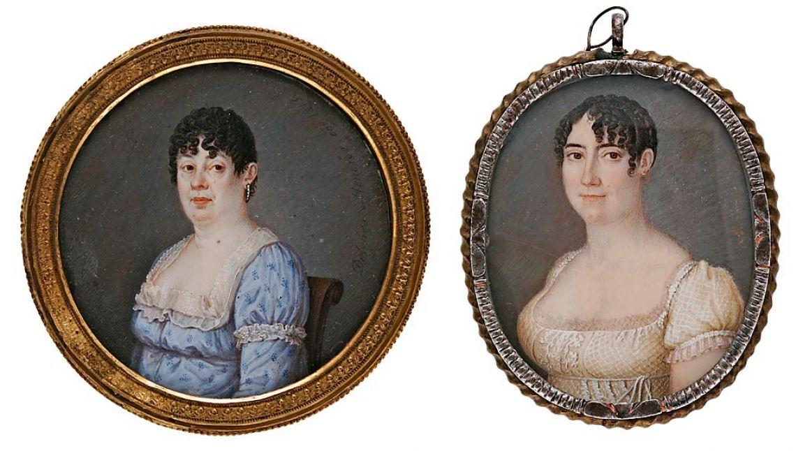 José Delgado Meneses (Español, 1775-?) - Dos damas