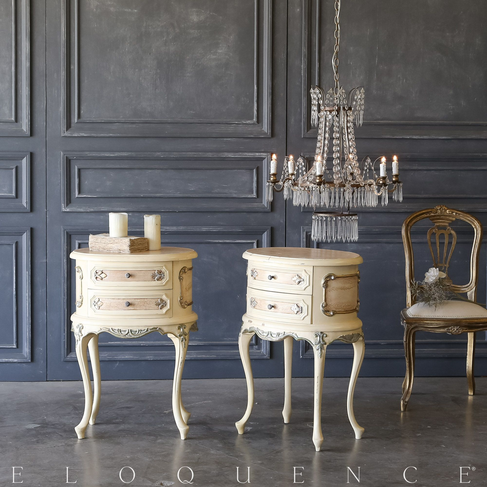 Vintage Nightstands Part - 33: Vintage Nightstands (Use As End Table W/ Vintage French Settee | |  Eloquence,