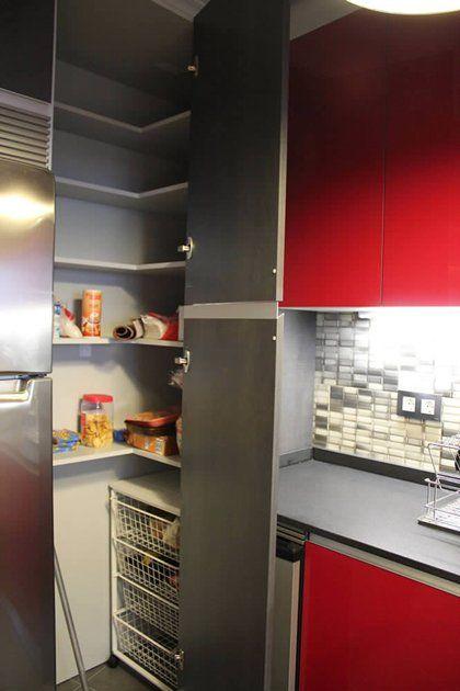 Cocinas alacenas para organizar y almacenar en tu cocina for Alacenas de cocina modernas