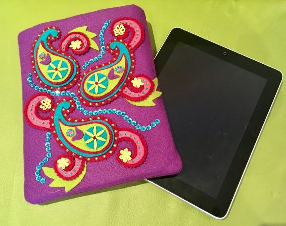 Felt paisley IPad Pro Ipad Air 2 Case Ipad cover Tablet c445f820df