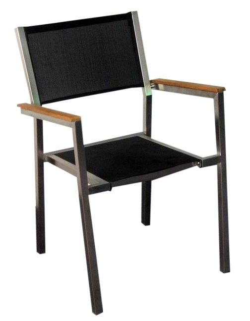 Stainless u0026 Textilene Chairs Our contemporary stainless and Textilene dining armchair is ideal to accompany any  sc 1 st  Pinterest & Stainless u0026 Textilene Chairs Our contemporary stainless and ...