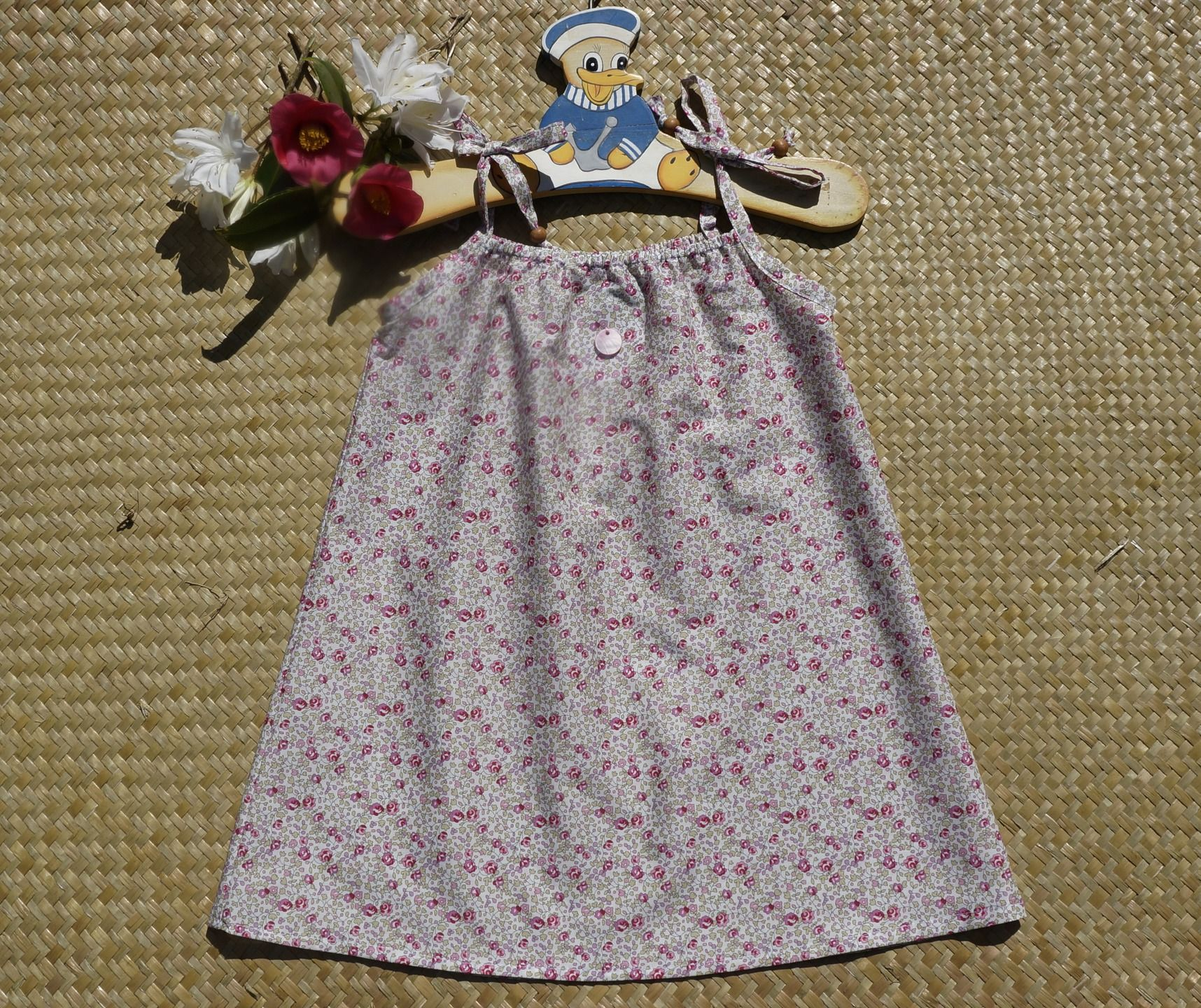 Robe bain de soleil en Liberty Eloïse rose : Mode filles par…