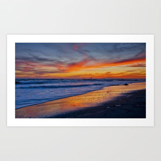 Surf City Sunset   4/29/15 Art Print by John Minar Fine Art Photography - $15.88