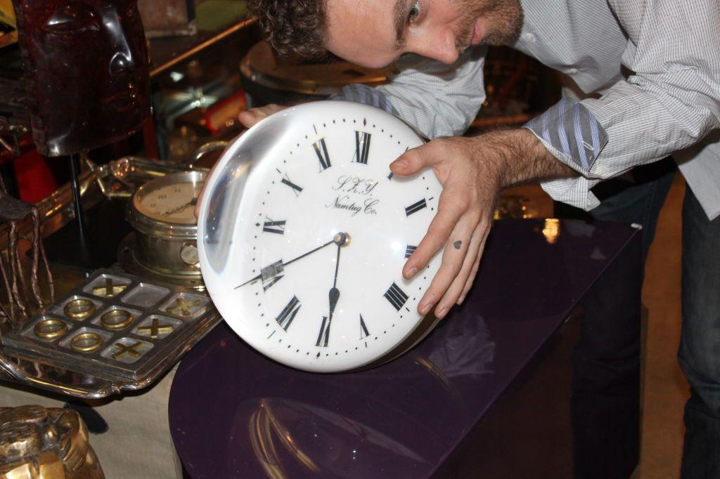 Lucite Ball Clock Clock Lucite Ball