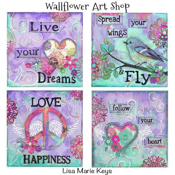 Inspirational Artwork ~ Teen Girls Room Art ~ Teen Girls Decor ...