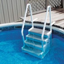 Above Ground Entry System Above Ground Pool Stairs Pool Steps Pool Ladder