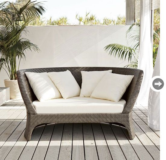 beautiful outdoor seating from @west elm