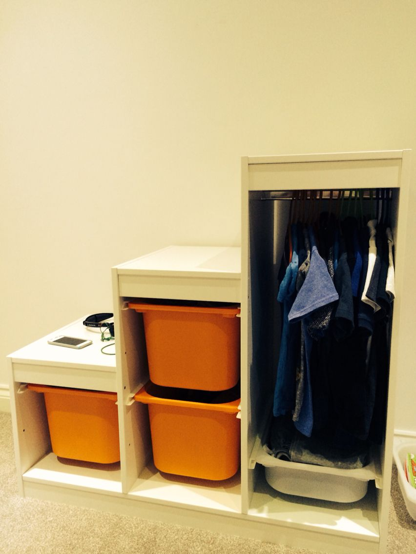 Ikea Trofast Unit for a mini wardrobe, plenty of hanging and ...