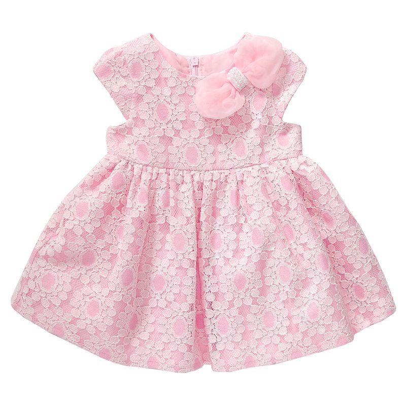 Baby Girl Youngland Lace Bow Dress, Pink   Bow dresses, Lace bows ...